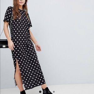 ASOS Ultimate T-Shirt Polka Dot Maxi Dress